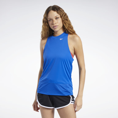Women Dance Workout Ready Mesh Panel Tank Top