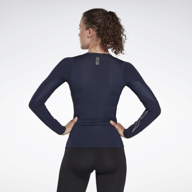 Dam HIIT Blå United by Fitness Compression Tee