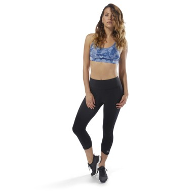 Women Running Black Running 3/4 Length Leggings