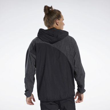 Men Fitness & Training Black Anorak Jacket