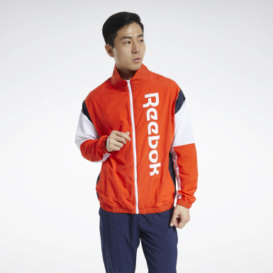 Campera Training Essentials Linear Logo Rojo Hombre Fitness & Training