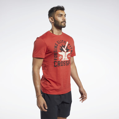 Heren Crosstraining Reebok CrossFit® Aambeeld T-shirt