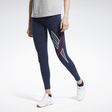 Women Classics Blue Classics Big Vector Leggings