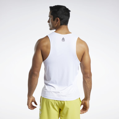 Men Training White Reebok CrossFit® ACTIVCHILL Tank Top