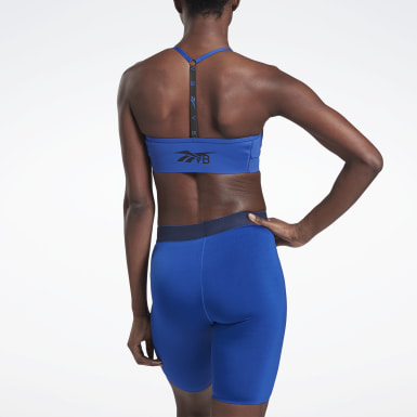 Women Fitness & Training Blue VB Adjustable T-Back Bra