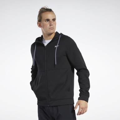 Men Hiking Black Workout Ready Hoodie