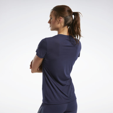 Women Fitness & Training Blue Reebok CrossFit® Read Graphic Tee