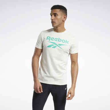 Men Training White Graphic Series Reebok Stacked Tee