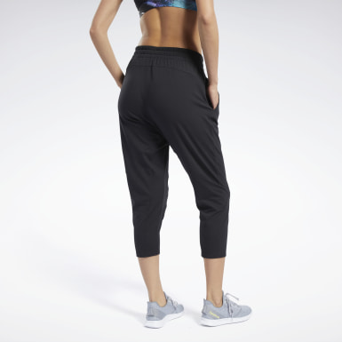 Women Yoga Black Jersey 7/8 Joggers