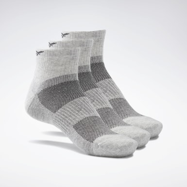 Calcetines tobilleros Active Foundation - Pack de 3 Gris Fitness & Training