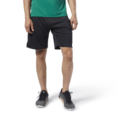 Men Training Black One Series Training Knit Shorts