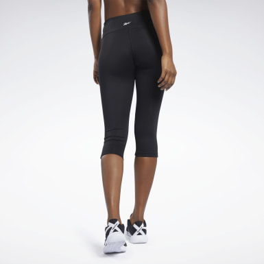 Women Yoga Black Workout Ready Capri Tights