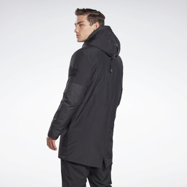 Men Outdoor Black Outerwear Urban Thermowarm REGUL8 Parka