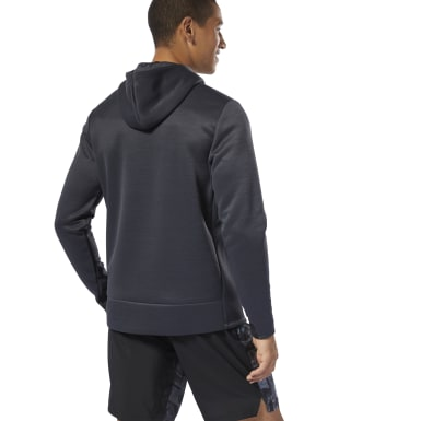 Men Training Grey Training Spacer Hoodie