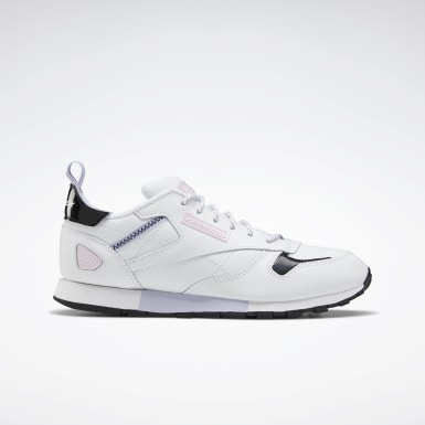 Girls Classics White Classic Leather Ree:Dux Shoes - Grade School