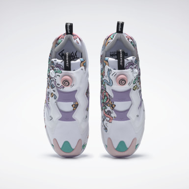 Classics White Instapump Fury x Distortedd Shoes