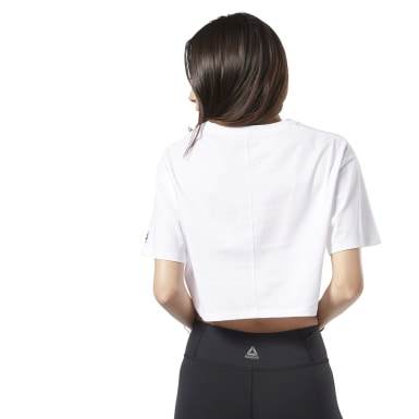 T-shirt Training Essentials Linear Logo Crop