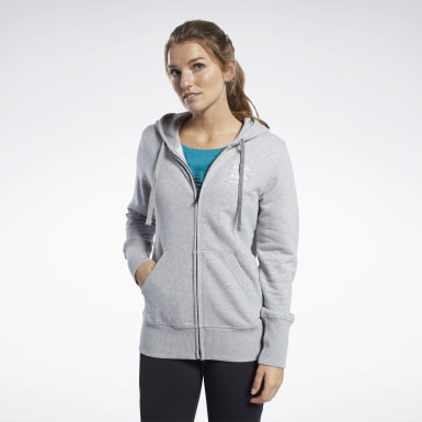 Sudadera Reebok CrossFit® Full-Zip Gris Mujer Cross Training
