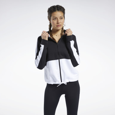 TE Linear Logo FT Fullzip Negro Mujer Fitness & Training