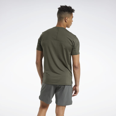 Men Training Green ACTIVCHILL Graphic Move Tee