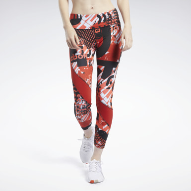 Dam Fitness & Träning Meet You There Allover Print 7/8 Tights