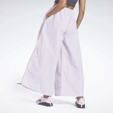 Women Studio White Wide Leg Woven Tracksuit Bottoms