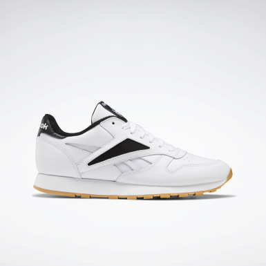 Men Classics White Classic Leather Mark Shoes