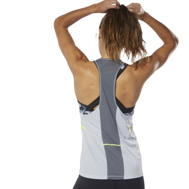 Women Running Grey Boston Track Club Singlet