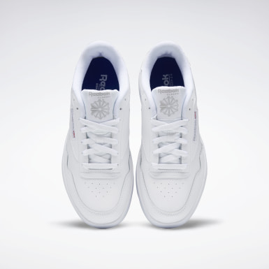 Men Classics White Reebok Club MEMT Wide 4E Men's Shoes