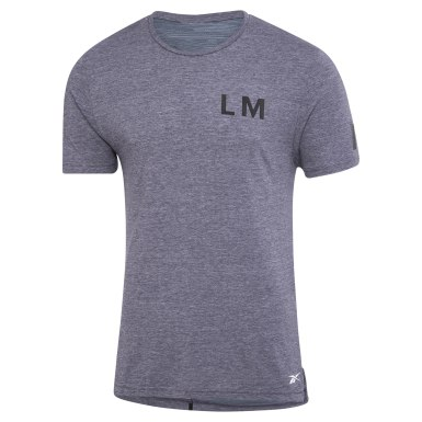 Men Studio Purple LES MILLS® ACTIVCHILL+COTTON Tee
