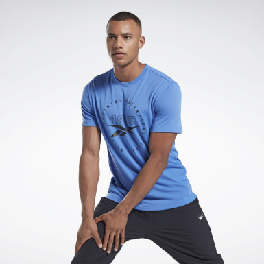 T-shirt imprimé Series Speedwick Bleu Hommes Fitness & Training