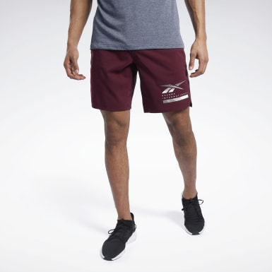Men Training Burgundy Epic Lightweight Shorts