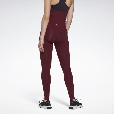 Kvinder Yoga Burgundy Reebok Lux Maternity Tights 2.0