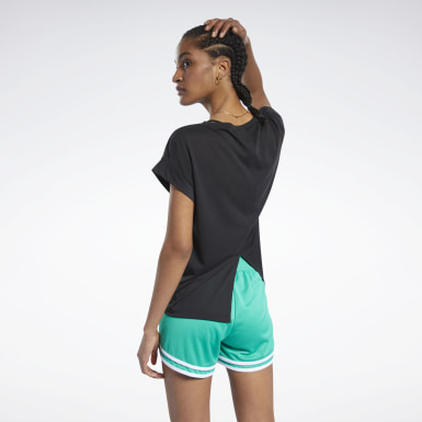 Dames Wandelsport Zwart Workout Ready Supremium Detail T-shirt