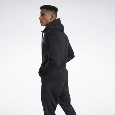 TS Knit-Woven FZ Hoodie Negro Hombre Fitness & Training
