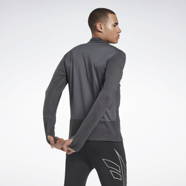 Men Running Grey Running Essentials Quarter Zip