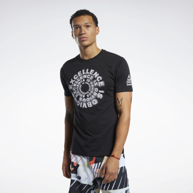 Men Cross Training Black Reebok CrossFit® Excellence Tee
