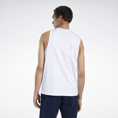 Men Classics White Classics Linear Tank Top