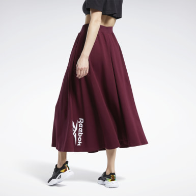 Women Classics Burgundy Classics Long Skirt