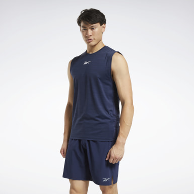 Men Training Blue ACTIVCHILL Sleeveless Tee