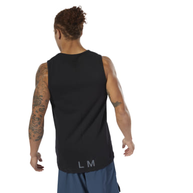 Men Studio Black LES MILLS® Perforated Tank Top