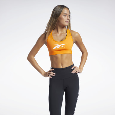 Dam Studio Orange Reebok Hero Medium-Impact Racer Bra
