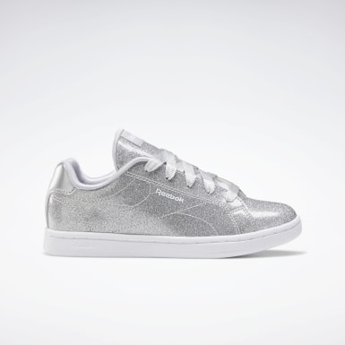 Girls Classics Silver Reebok Royal Complete CLN 2 Shoes
