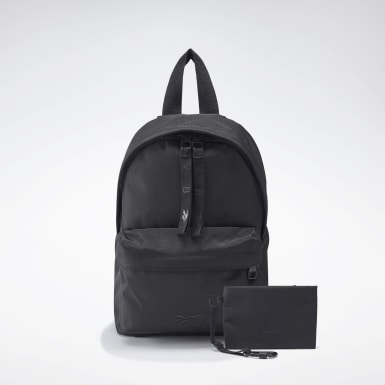 Women Urban Outdoor Black VB Mini Backpack