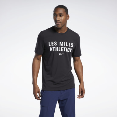 Men Studio Black Les Mills® Cotton T-Shirt