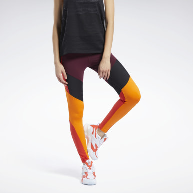 Mallas Lux Colorblock Granate Mujer Fitness & Training