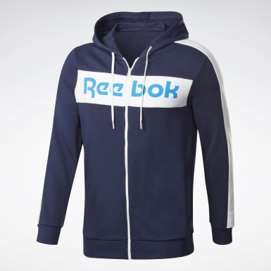 Bluza z kapturem Training Essentials Logo Niebieski