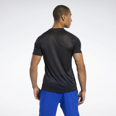 Men Cross Training Black Workout Ready Polyester Tech Tee