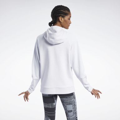 Women Outdoor White Quik Cotton Full-Zip Hoodie