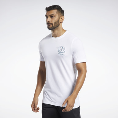 Men Fitness & Training White Graphic Series Panda Crew Tee